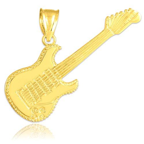 10 ct 471/1000 Or E-Gitarre Pendentif