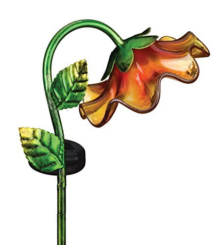 Creekwood - Regal Gifts - Mini Solar BELL FLOWER Garden Stake (YELLOW) by Creekwood by Creekwood