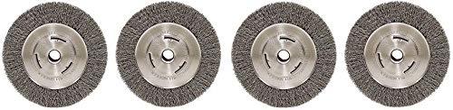 Weiler 6655 Vortec Pro 7'' Wide Face Bench Grinder Wheel, 0.14'' Crimped Steel Wire Fill, 5/8'' Arbor Hole (4-(Pack))