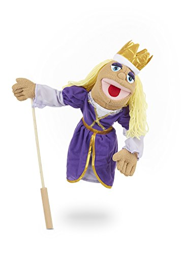 Melissa & Doug Royal Princess Puppet With Detachable Wooden Rod for Animated Gestures