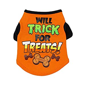 TizzyPet Dog Halloween T-Shirt Pet Puppy Clothes Costume Dog Cat Apparel