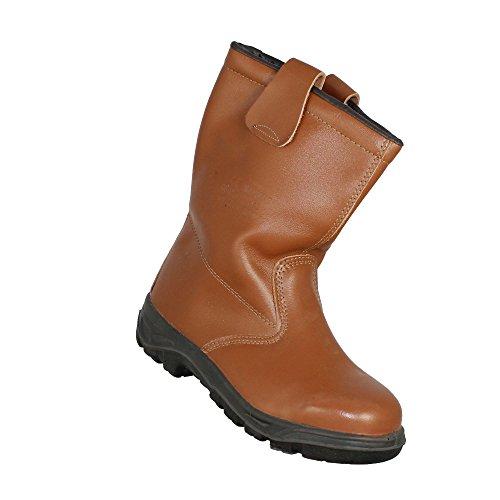 Rigger - Calzado de protección de Piel para hombre Marrón marrón KJzwytI0s