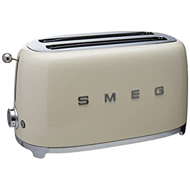 Smeg 4-Slice Toaster-Cream