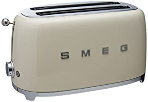 smeg 4 slice toaster cream home kitchen. Black Bedroom Furniture Sets. Home Design Ideas