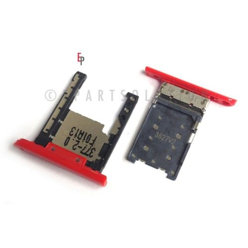 ePartSolution-Nokia Lumia 1520 Bandit SIM Card Tray Holder Slot Red Replacement Part USA Seller (Nokia Lumia 1520 Parts)