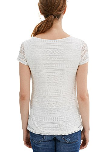 edc by Esprit 037cc1k047, Camiseta para Mujer Blanco (Off White)