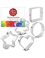 Ann Clark Cookie Cutters Basic Cookie Cutters Set - 5 Piece - Tin Plated Steel