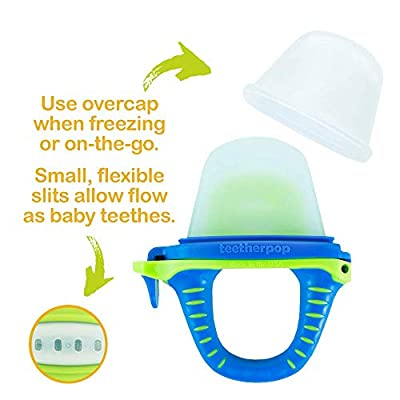 teetherpop - New 2 Pack - Fillable, Freezable Baby Teether for Breastmilk, Purées, Water, Smoothies, Juice & More (Baby Teether is USA Made & BPA Free) (BlueLime/LimonTeal) : Baby