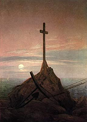 The Cross Beside The Baltic by Caspar David Friedrich. 100% Hand Painted. Oil On Canvas. Reproduction. (Unframed and Unstretched).