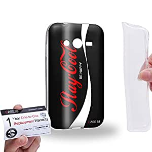 Case88 [Galaxy Ace NXT / Ace 4] Gel TPU Carcasa/Funda & Tarjeta de garantía - Art Fashion Stay Cool Coke Zero Black Can Art1208