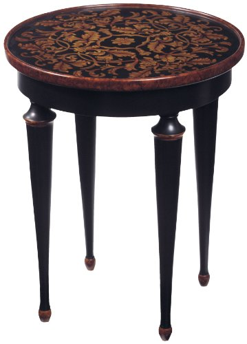 Ebony Accents (Sterling 6002387 Maderia Traditional Asian Hardwood Hand Painted Accent Table, 25-Inch,)