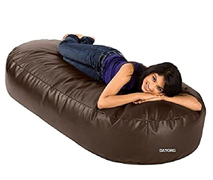 Dayorg 6 Feet Oval Shaped Sofa Cum Bed Couch Bean Bag (Without Beans)