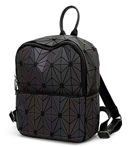 Black Zaino Viaggio Luminoso Diamond Bag Fashion Da Stitching Scrub Zaino zZUvZqnx