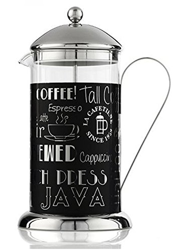 La Cafetiere 5164447 Wake Up and Smell The Coffee 8 Cup French Press, Black
