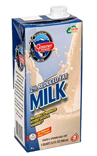 Shelf Stable Reduced Fat 2% Milk - 32 Oz Carton by Gossner Foods