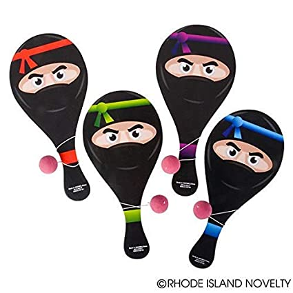 Amazon.com: 1 DZ (12) Awesome Ninja Paddleball Juegos ...