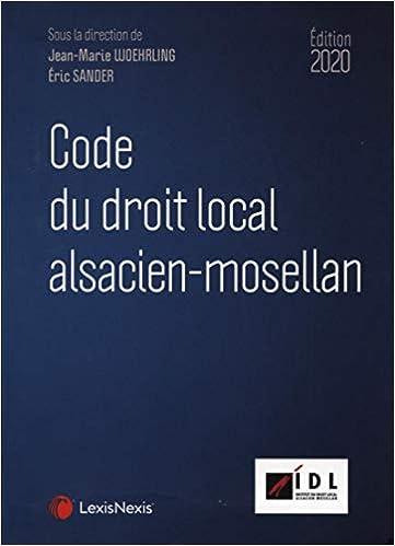 Code du droit local alsacien-mosellan 2020