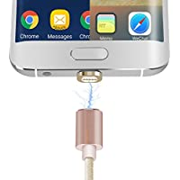 Magnetic Charging Cable, Amavasion Micro Lightning 2 in 1 Charging&Data Transmission for iPhone7/7 Plus, 6/6Plus iPad Mini/Pro and Android phone(Gold)