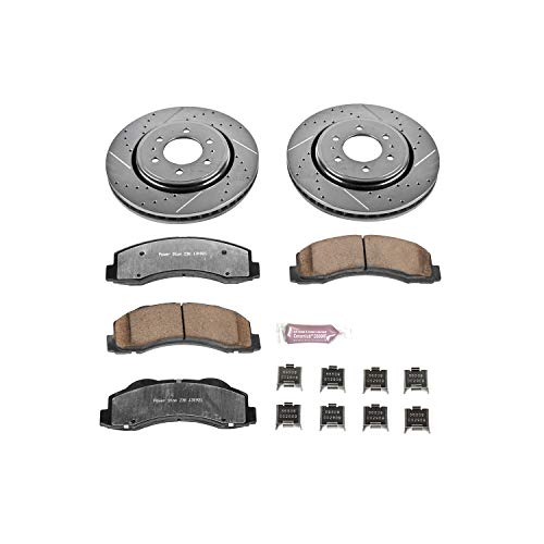 Power Stop K3167-36 Z36 Truck & Tow Front Brake Kit - Ford Truck Rotors