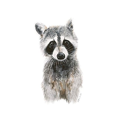 Baby Raccoon Watercolor Nursery Decor Available In Various Sizes, Woodland Children's Room Decor