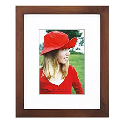 """RPJC 8x10 inch Picture Frame Made of Solid Wood and High Definition Glass Display Pictures 5x7 with Mat or 8x10 Without Mat for Wall Mounting Photo Frame Brown - THERPJCPHOTOFRAMEADVANTAGE:FrameMadeofsolidwood,Environmentalpaint,HighDefinitionGlass,Highqualityanddurable.Readytohangtheframeonthewallordisplayondesktop. Size:Fits 5x7 with Mat or 8x10 Without Mat Photos ! Actual Frame size (finished size) 9-3/8""""x11""""x3/4"""" and the frame is 1 inches wide. Environmental: Low lead paint?P2 MDF back,Natural wood. - picture-frames, bedroom-decor, bedroom - 41U4IY 9P8L. SS400  -"""