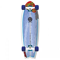 A true Cruzer board! Straight from the shaping room of Santa Cruz surfboards. This high performance twin fin has evolved to rip on land! Equipped with Bullet B137 blue and white trucks. 65mm translucent blue 78a Road Rider wheels. Full top an...