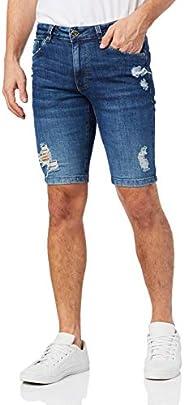 Bermuda Slim Jeans Destroyed Malwee Malwee Masculino