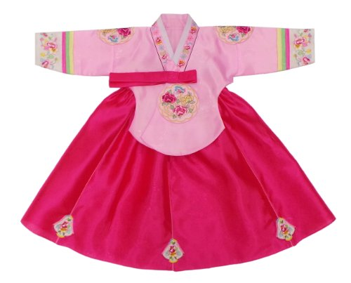 Sonjjang Little Girl's Princess Hanbok Pink Dangui Age 6 by sonjjang