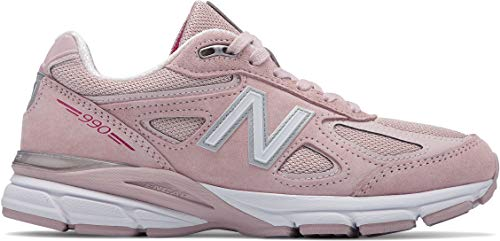 New Balance Women's 990v4 Running Shoe, Faded Rose/Komen Pink, 10.5 B US (Running In Pink)