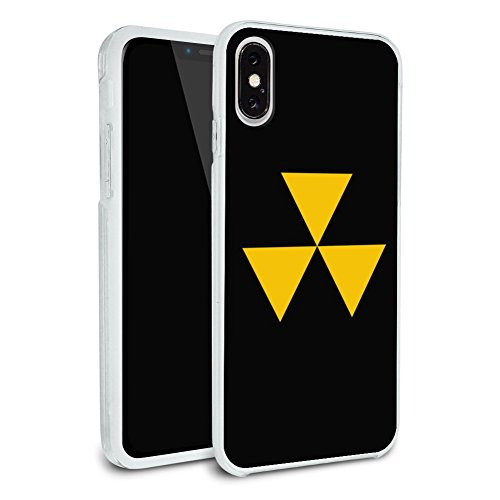 Fallout Shelter Civil Defense Symbol Radioactive Radiation Safe Zone Protective Slim Fit Hybrid Rubber Bumper Case Fits Apple iPhone X