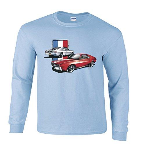 erican Motors Company Long Sleeve T-Shirt-Light Blue-Small ()