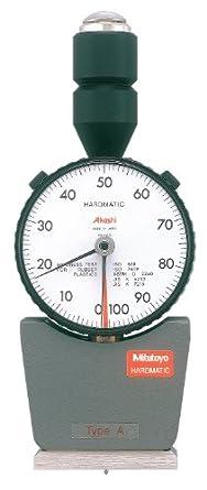 "Mitutoyo 811-335 Dial Durometer Tester for Shore A Scale, 1.73"" X 0.7"" Pressure Foot, .031"" Diameter Blunt Taper Tip"