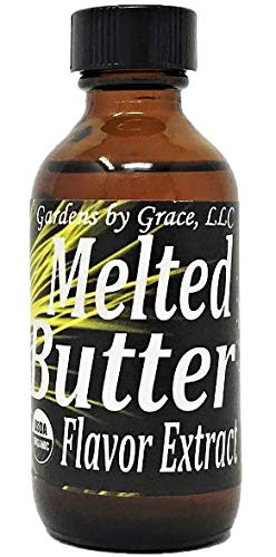 Organic Flavor Extract Butter | Use in Gourmet Snacks, Candy, Beverages, Baking, Ice Cream, Frosting, Syrup and More | GMO-Free, Vegan, Gluten-Free, 2 oz