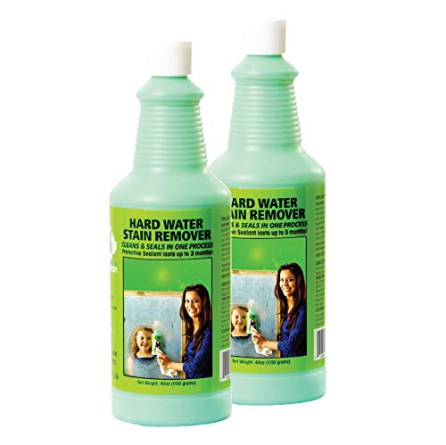 Bio Clean: Eco Friendly Hard Water Stain Remover (40oz Large). Pack of 2