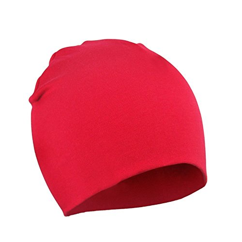 Kids Beanie Red (Zando Infant Newborn Hats Soft Cotton Cute Baby Beanies Unisex Lovely Knit Kids Caps Toddler Beanies Baby Boys Girls G Red Large /1-4 Years)