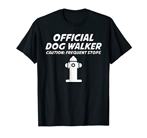 Official Dog Walker T-Shirt Funny Fire Hydrant Gift Tee]()