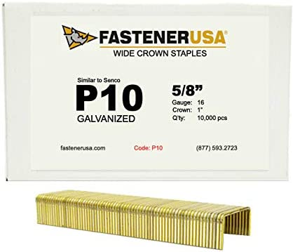 5//8 Leg x 1 Crown 16GA Galvanized P10 Staples 10M Box