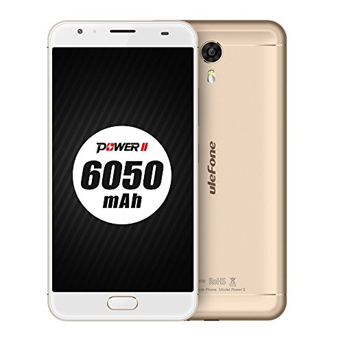 UleFone Power 2 Android 7.0 Smartphone 6050mAh Akku 4G FDD-LTE ,Ohne Vertrag 5,5 Zoll FHD 4GB RAM+64GB ROM Octa-Core 16.0MP + 13.0MP Kameras Quick Charge Front-Fingerabdruck Dual Sim