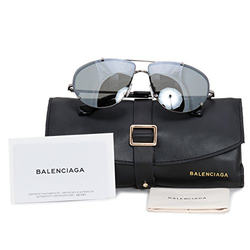 Balenciaga BA0097 C62 14C (shiny light ruthenium / smoke mirror)