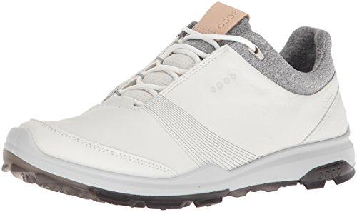 ECCO Women's Biom Hybrid 3 Gore-Tex Golf Shoe, White/Black, 38 M EU (7-7.5 US)