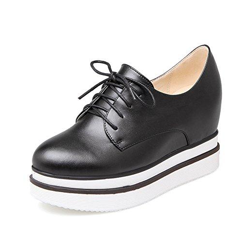 Señora pesada inferior añadir zapatos de alto/Corte de encaje bajo zapatos/Zapatos ocasionales del estudiante A