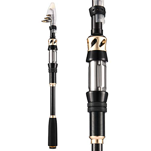 Magreel Telescopic Fishing Rod, 24T Carbon Fiber