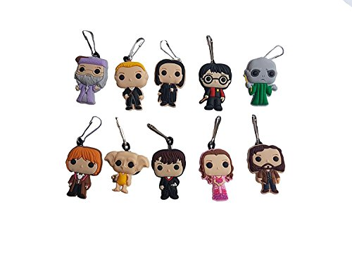 [AVIRGO 10 pcs Metal Clothes And Bags Decoration Zipper Pull Keyring Carabiner Set # 454 - 2] (Dobby Harry Potter Costumes)