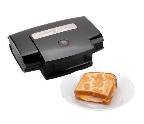 Disney DCM-5 Classic Mickey 2-Slice Sandwich Maker, Black