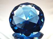 Sapphire Crystal Diamond Jewel Paperweight 100mm