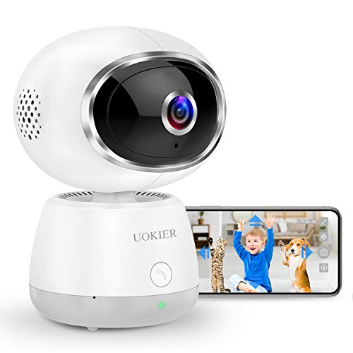 🥇 WiFi Home Security Camera UOKIER Wi-Fi Indoor Pan/Tilt/Zoom IP Pet Camera