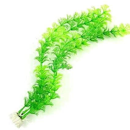 SODIAL Plantas de Agua Artificial Planta Verde Hierba para Pecera Decoracion Acuario Ornamento Decoracion Plastico