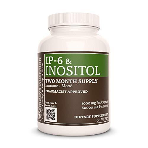 IP-6 Inositol Remedys Nutrition MEGA STRENGTH 1,000 mg per capsule/2000 mg daily/ 60,000 mg per bottle Organic Vegan VCaps