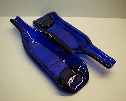 Double Cobalt Blue Wine Bottle Serving Dish