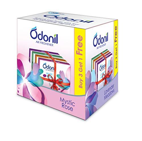 Odonil Bathroom Air Freshener Blocks, Mixed Fragrances – 50gm (Buy 3 Get 1 free)
